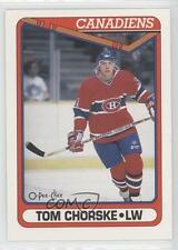 1990-91 O-Pee-Chee #490 Tom Chorske Montreal Canadiens RC Rookie Hockey Card