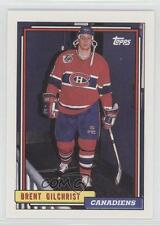 1992-93 Topps #386 Brent Gilchrist Montreal Canadiens Hockey Card