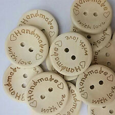 100Pcs Butterfly Love Heart Letter Carved Sewing Scrapbooking Buttons Utility
