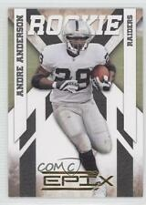 2010 Panini Epix Gold #103 Andre Anderson Oakland Raiders Rookie Football Card