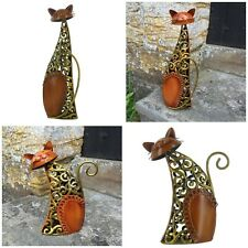 BEAUTIFUL ORNAMENTAL HIGH QUALITY IRON CAT STATUES SUITABLE FOR HOME OR GARDEN