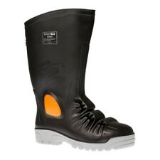 MENS PORTWEST BLACK METATARSAL SLIP RESISTANT COMPOSITE SAFETY WELLIES BOOTS