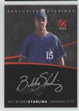 2012 Onyx Platinum Prospects Exclusive Etchings Gold Ink EE8 Bubba Starling Auto