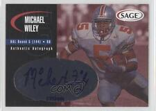 2000 SAGE Autographs Red #A50 Michael Wiley Dallas Cowboys Auto Football Card