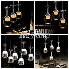 Modern LED Wine Glass Ceiling Light Pendant Lamp Fixture Lighting Chandelier