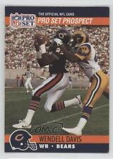 1990 Pro Set #727 Prospect Wendell Davis Chicago Bears Rookie Football Card