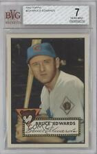 1952 Topps #224 Bruce Edwards BVG 7 Chicago Cubs Baseball Card