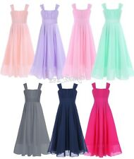 New Arrival Flower Girl Chiffon Dress For Wedding Pageant Birthday Party Sz 4-14