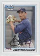 2010 Bowman Draft Picks & Prospects BDPP23 Andrelton Simmons Atlanta Braves Card