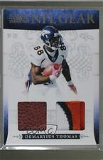 2010 Playoff National Treasures NFL Gear Combos Prime #21 Demaryius Thomas Card
