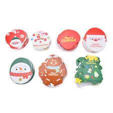 50pcs/lot Mini Merry Christmas Wishing Cards/Tags Xmas Gift Decoration Label HU