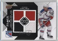 2008 Upper Deck Black Diamond Quad Jerseys #BDJ-CD Chris Drury New York Rangers