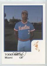 1986 ProCards Miami Marlins #TOSM Todd Smith (Minor League) Rookie Baseball Card