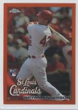 2010 Topps Chrome Orange Refractor #172 Bryan Anderson St. Louis Cardinals Card
