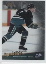 1998 Topps Finest No-Protector 1 Teemu Selanne Anaheim Ducks (Mighty of Anaheim)
