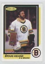 1986-87 O-Pee-Chee Blank Back #N/A Doug Keans Boston Bruins Hockey Card