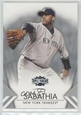 2012 Topps Triple Threads #28 CC Sabathia New York Yankees Baseball Card