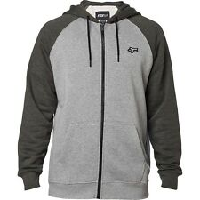 FOX RACING LEGACY HEATHER GREY GRAY ZIP FRONT HOODIE HOODY MENS ADULT SWEATSHIRT