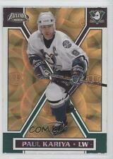 2002 Pacific Exclusive Gold 2 Paul Kariya Anaheim Ducks (Mighty of Anaheim) Card