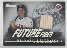 2003 Bowman Future Fiber #MR Michael Restovich Minnesota Twins Baseball Card