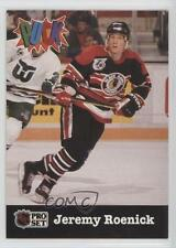 1991-92 Pro Set Puck #6 Jeremy Roenick Chicago Blackhawks Hockey Card