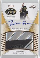 2014 Leaf US Army All-American Bowl #PA-WG1 Will Grier Auto Rookie Football Card