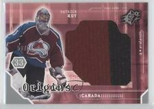 2003-04 SPx Origins #O-PR Patrick Roy Colorado Avalanche Hockey Card