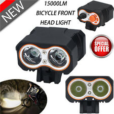 15000Lumen 2X XM-L T6 LED 3 Modes Bicycle Bike Front Head Light Cycling Lamp NEW