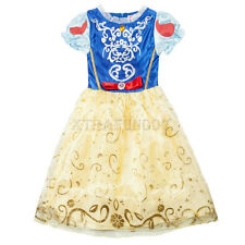UK Kids Girls Classic Princess Snow White Costume Fancy Dress Dressing Up Outfit