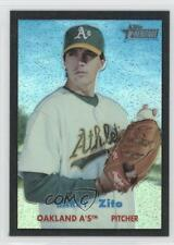 2006 Topps Heritage Chrome Black Refractor 104 Barry Zito Oakland Athletics Card