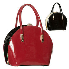 Dancing Days Womens Shiny Patent 1950s Rockabilly Retro Vintage Handbag UK