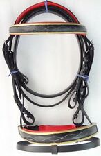 Yesrd  Leather Horse Dressage Bridle with Leather Rein LBB -1A
