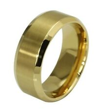8MM Stainless Steel Titanium Band NEW Black 2016 Men 7 to 10 Ring Gold Silver