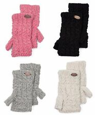 Turtle Fur Women's Nepal Mika Hand Knit Fingerless Mittens Sz OS - color choices