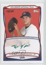 2010 Topps USA Baseball Team Autographs Green Ink #A-21 Tyler Anderson Auto Card