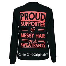 "Girlie Girl Originals ""Proud Supporter"" Black Long Sleeve Unisex Fit T-Shirt"