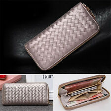 Hot Lady Women Fashion Leather Clutch Wallet Zip Long Card Holder Purse Handbag