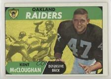 1968 Topps #12 Kent McCloughan Oakland Raiders Football Card