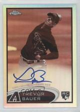 2012 Topps Chrome Rookie Autograph Sepia Refractor #TB Trevor Bauer Auto Card