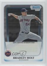 2011 Bowman Chrome Prospects Autograph #BCP174 Brad Holt New York Mets Auto Card