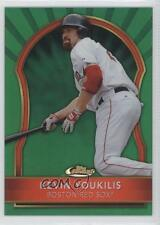 2011 Topps Finest Green Refractor 53 Kevin Youkilis Boston Red Sox Baseball Card