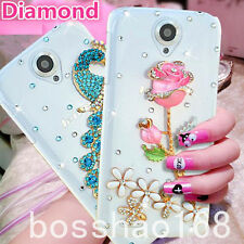 Crystal Bling Rhinestone Diamonds hard thin back cover case Skin for Apple