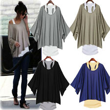 2PCS: Tank Vest + Stylish Womens Casual Loose Tops Batwing Blouse T-shirt