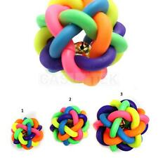 Pet Dog Cat Toy Colorful Rainbow Rubber Round Ball Bell Puppy Funny Toy