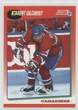 1991 Score Canadian English #259 Brent Gilchrist Montreal Canadiens Hockey Card