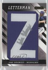 2008 Razor Letterman #JO-Z2 Jake Odorizzi Milwaukee Brewers Auto Baseball Card