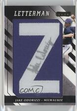 2008 Razor Letterman #JO-Z1 Jake Odorizzi Milwaukee Brewers Auto Baseball Card