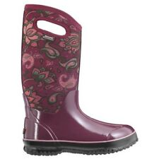 LADIES BOGS CLASSIC PAISLEY TALL BURGUNDY INSULATED WARM WELLINGTON BOOT 72031