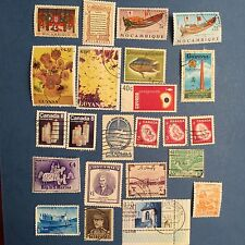 Interesting Collection of mint, used, old stamps from Mozambique,Canada,Belgium.