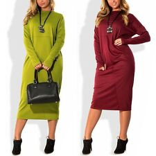 Plus Size Women Lady Long Sleeve Cocktail Evening Party Loose Casual Mini Dress